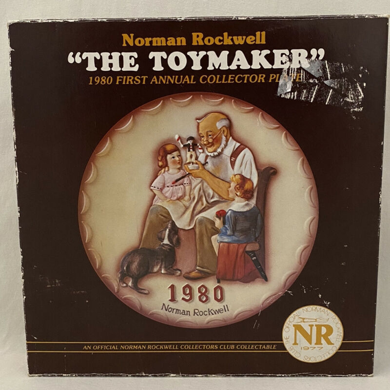 Norman Rockwell The Toymaker 1980 First Annual Collector Plate Original Box COA