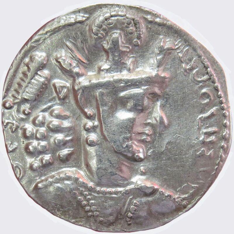 AD 240- 272 SILVER INDIA SASANIAN KINGDOM SHAPUR AR DRACHM 3.81 GRAMS CHOICE XF