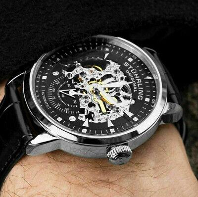 Stuhrling Men's 22 Jewels Self Wind Automatic Skeleton Executive Luxury Watch