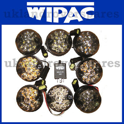 SIDE FOG Etc STOP LAND ROVER DEFENDER WIPAC CLEAR SMOKE LED LAMPS INDICATOR