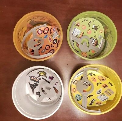 McDonalds Minions Halloween Buckets Happy Meal Toys Complete Set Of 4 New 2015 (Happy Meal Halloween Buckets)