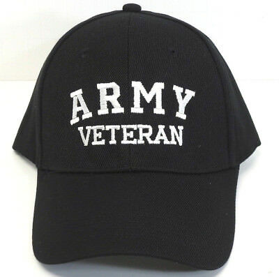 U.S. ARMY VETERAN Hat/Cap Black or Blue Military FREE SHIPPING