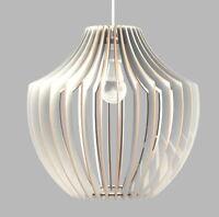 Lampadario Soffitto Sospensione Pendente In Legno - Design Vaso Stilizzato -  - ebay.it