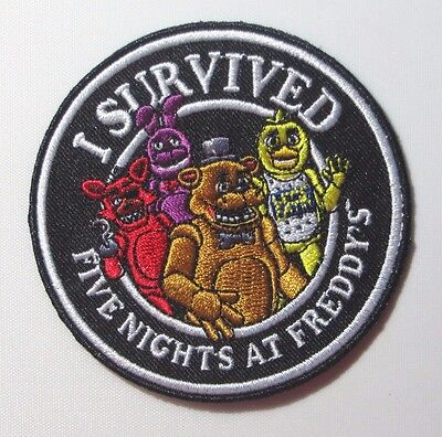 Five Nights At Freddys I Survived Five Nights At Freddys 3  Embroidered Patch