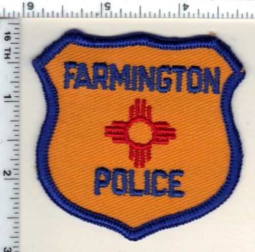 Farmington Police (New Mexico) Shoulder Patch in use 1960