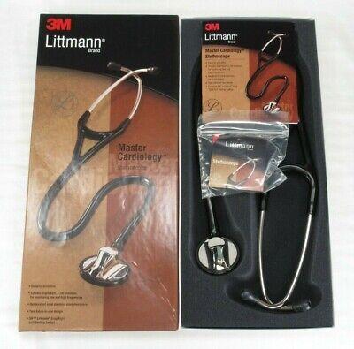 3m Littmann Stethoscope Master Cardiology Model 2160 Black Tubing 27 In New