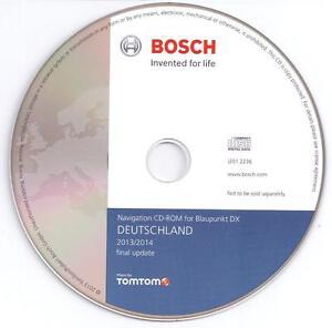 2014 Navigations CD Deutschland Blaupunkt TravelPilot DX Bosch Tele Atlas Navi