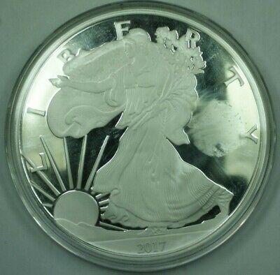 2017 Proof One Quarter Pound (4oz) .999 Fine Silver Silver Eagle Design