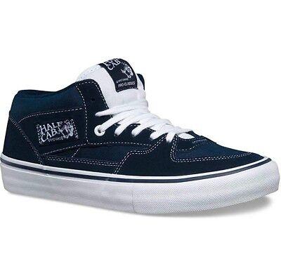 d5a2f852fb17 Vans Half Cab Pro Dress Blues UltraCush Suede Skate Shoes Mens 6.5 Womens 8