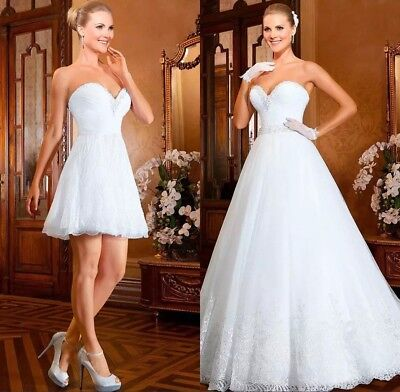 Sweetheart Crystal Beads Lace Tulle Wedding Dresses Bridal Gown Detachable Train for sale  China