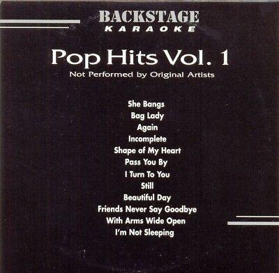 Backstage Karaoke Pop Hits Vol. 1 Vol. 3317 CD+G New and sealed.