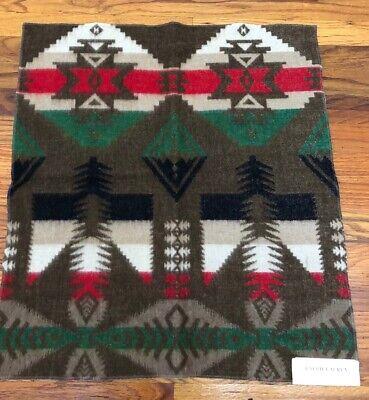 RALPH LAUREN Fabric Remnant  POLO RRL SOUTHWESTERN INDIAN BLANKET  WOOL 24x26