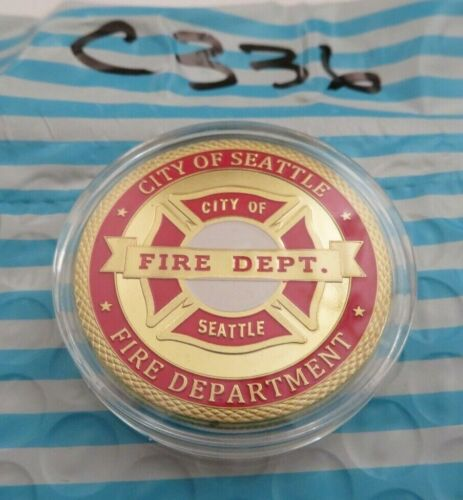 CITY OF SEATTLE FIRE DEPARTMEMT CHALLENGE COIN C336