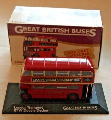 BNIB OO GAUGE OXFORD 1:76 76SET26 TWIN BUS SET RT RM LONDON TRANSPORT DOUBLE