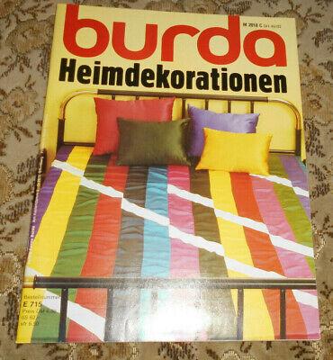 Burda von 1983 Heimdekorationen Stricken Nähen Häkeln Malen Basteln Weben