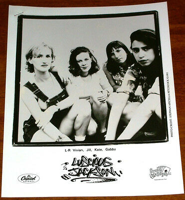 Rare Luscious Jackson 8x10 B&W Press Photo Grand Royal Capitol Records 1993