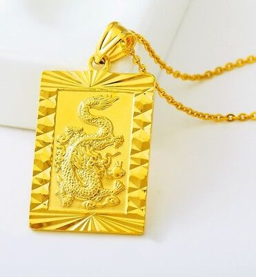 24k goldebay 1 24k gold dragon pendant with chain link necklace freegift pouch d451 mozeypictures Gallery