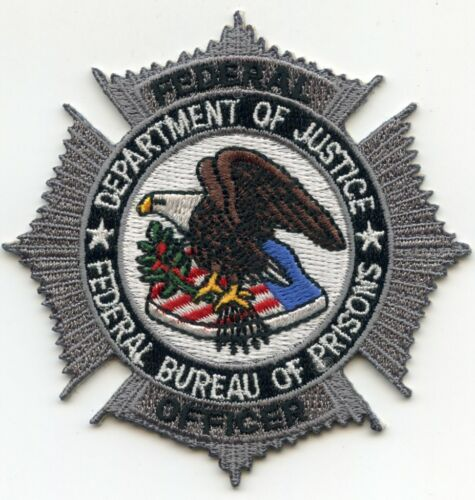 FEDERAL BUREAU OF PRISONS WASHINGTON DC silver DOC CORRECTIONS police PATCH