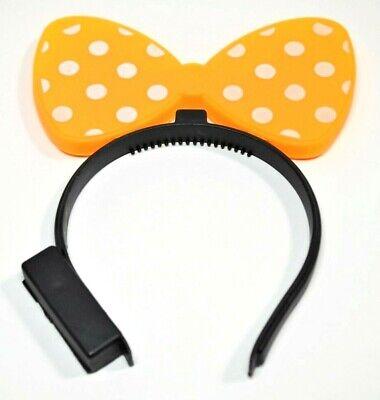 Minnie Mouse Light Up Bow Blinking Flash Ears Headband Wear To Disneyland Nice !