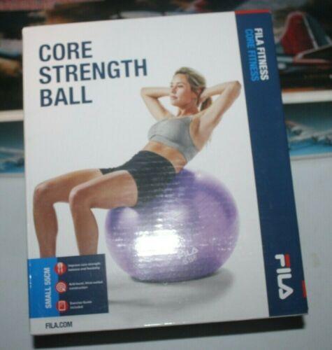 FILA Fitness Gym Ball Exercise Yoga Balance CrossFit Core Strength Train Purple