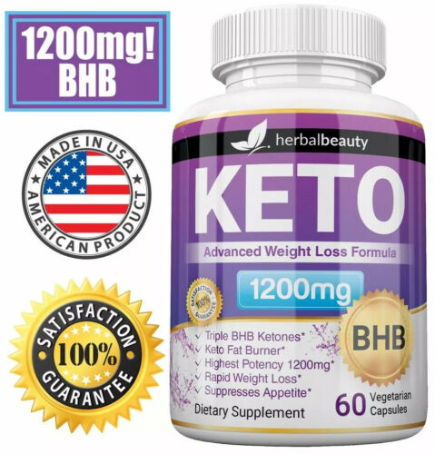 Herbal Beauty KETO BHB 1200mg PURE Ketone FAT BURNER Weight