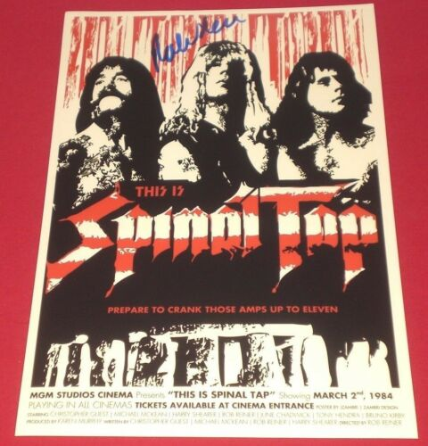 DIRECTOR ROB REINER SIGNED THIS IS SPINAL TAP 8X12 POSTER PHOTO AUTOGRAPH COA