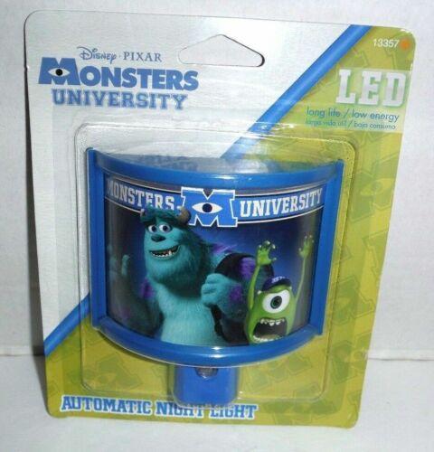 Disney Pixar Monsters University Automatic LED Night Light New