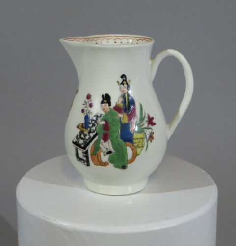"Early Worcester Chinoiserie pitcher c.1760 3.5"" tall great condition    sku:WSBP"