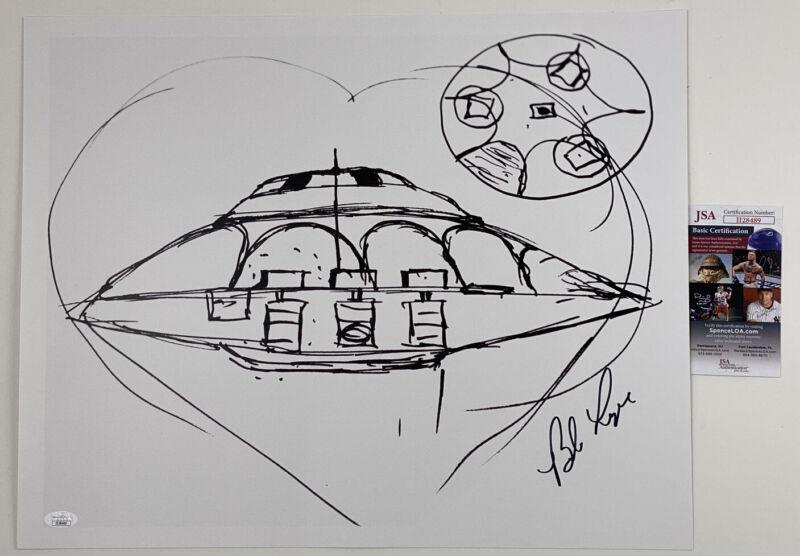 BOB LAZAR signed 16x20 POSTER Area 51 & Flying Saucers Print JSA Authentication