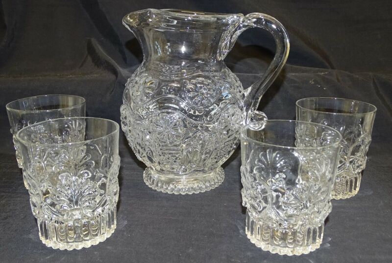 Metropolitan Museum of Art Pitcher and 4 Tumblers Replica - Daisy Design