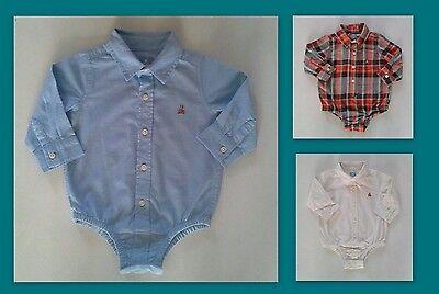 Dress Shirt Bodysuit (Baby Gap NWT White Oxford ButtonUp Bodysuit CollarTop Dress Shirt 0 3 6 9 12 18)