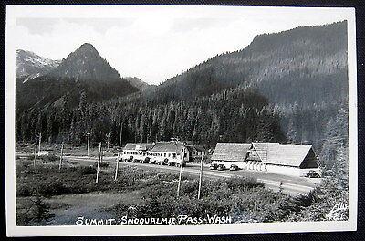 Summit Snoqualmie Pass Wa   1940S Oil Trucks   Lodge   Real Photo Pc  Rppc
