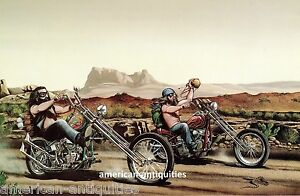 Dave David Mann Biker Art Motorcycle Poster Print Easyriders Desert Run Chopper
