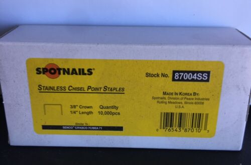 "71-1/4"" STAINLESS STEEL UPHOLSTERY STAPLES FOR ALL 3/8"" CROWN STAPLERS 22 GA."