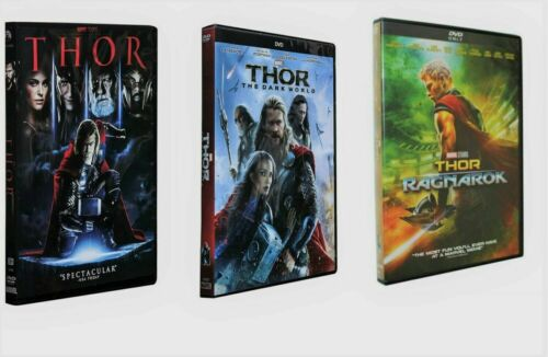 THOR 3 Film Movie DVD Collection 1-3 Trilogy Set - Brand New - Free Shipping