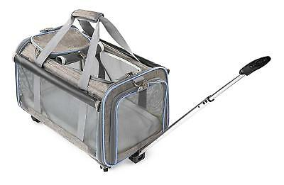 Airline Approved Removable Wheeled Pet Carrier for Medium & Small Dogs/Cats