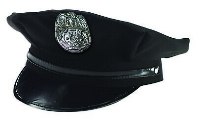Forum Novelties Policeman Badge Cop Hat Black Halloween Costume Accessory 72595](Cop Hat Halloween)