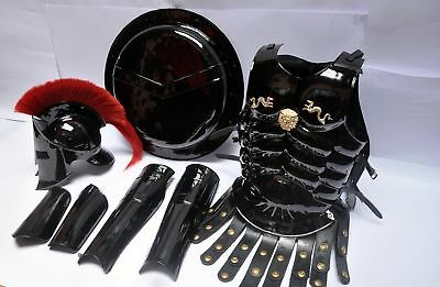 - 300 Medieval King Roman Spartan Helmet With Muscle Jacket Armor Shield