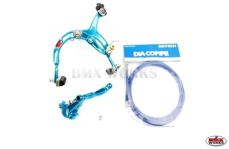 Genuine Dia-Compe MX1000 Old School BMX MX121 Front Brake Kit Red