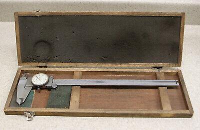 Mitutoyo - 12 Inch Dial Caliper In Wood Box - Japan