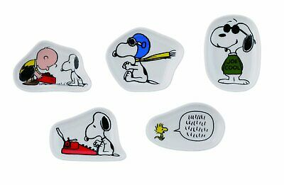 Used,  Peanuts Snoopy Miniature Plates Set of 5 Yamaka Japan SN470-127  for sale  USA