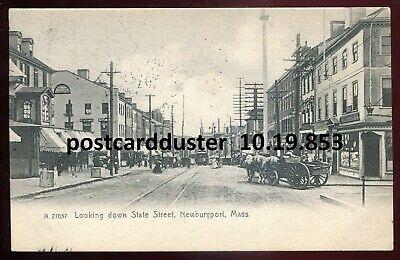 853 - NEWBURYPORT Massachusetts 1912 State Street. Stores