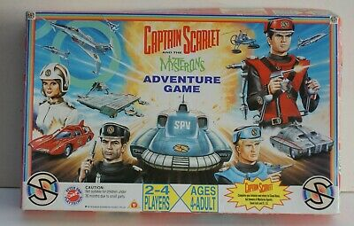 Old 1993? Captain Scarlet and The Mysterons Adventure Game-by Peter Pan Playthings
