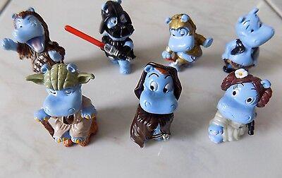 """Ü- Eier Figuren der Serie """"Star Wars Hipperium"""" von 2002 7 Figuren"""