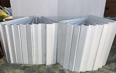 Lot Of 20 Universal 3 Ring Binders Round Ring 1 Inch White Office Binder