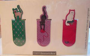 HBB Magnetlesezeichen Katzen Kätzchen Magnet Mitgebsel Kindergeburtstag Moses