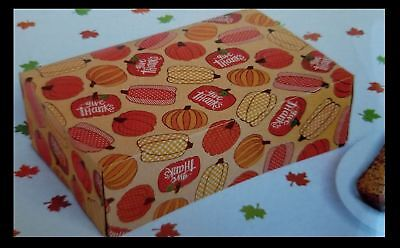 Set of 8 Thanksgiving Take Home Boxes  Goodies Boxes Leftover Boxes Doggie Bags  - Thanksgiving Goodie Bags