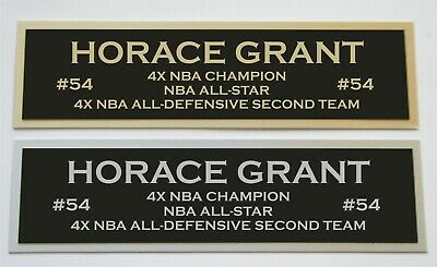 Horace Grant nameplate for signed autographed basketball photo jersey or case