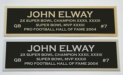 John Elway nameplate for signed autographed jersey football helmet or photo John Elway Signed Photograph
