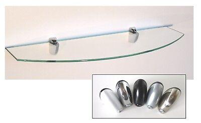 Glasregal 60cm breit gerundet 10-20cm tief Clip Mini in 5Farben Wandregal Ablage - Metall Breite Bücherregal